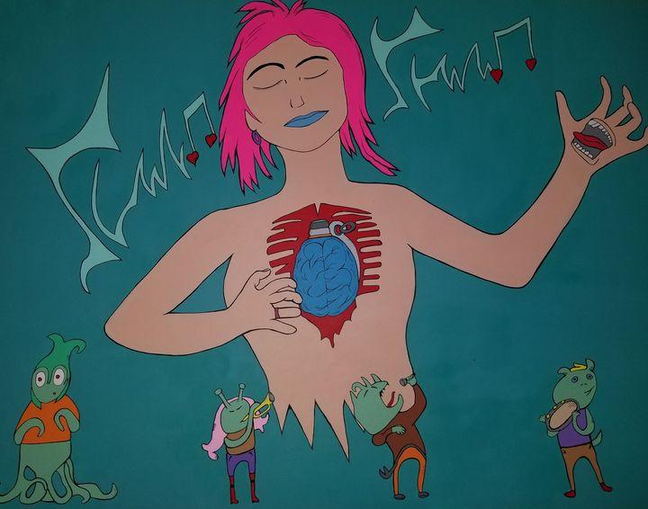 Music can grenade the brain & heart - Bonnie's art