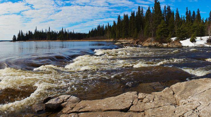 Rapids in Spring - MFlettRachArt