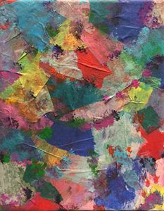Multicolor Tissue and Acrylic Paint