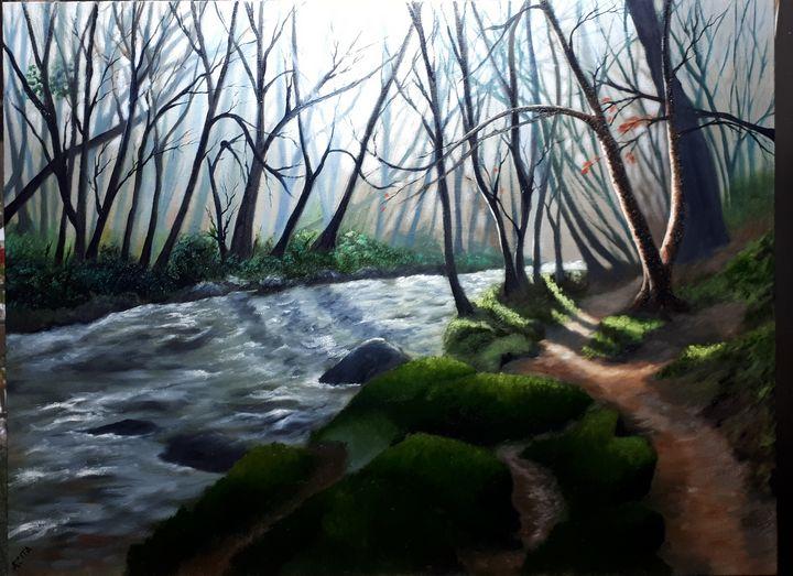 Forest Path - Azi Hess Art