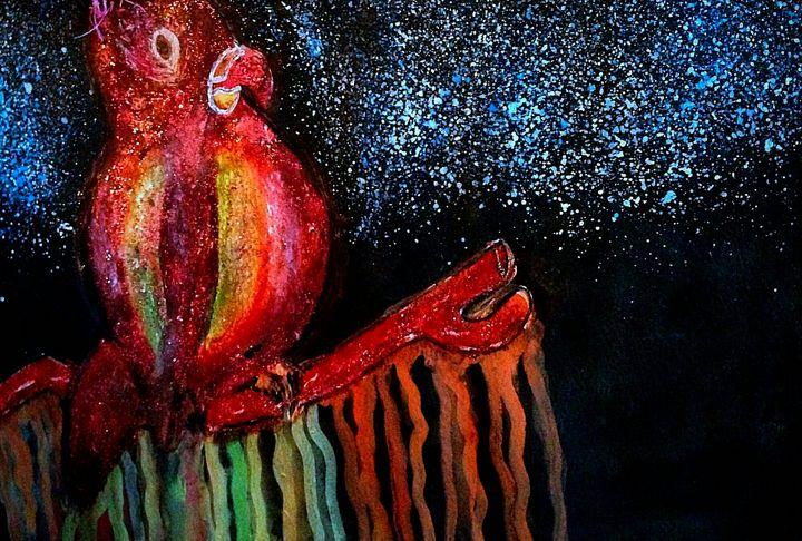 Drippy Rainbow Bird - YodelArtAuction