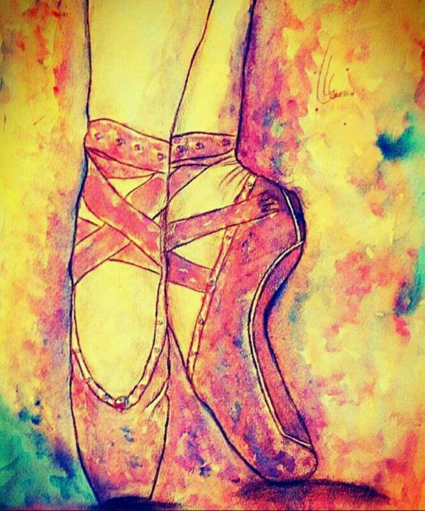 Ballet pointe shoe - YodelArtAuction