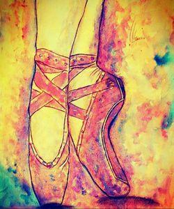Ballet pointe shoe