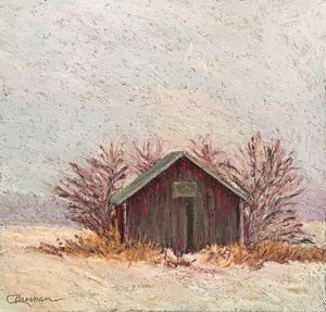 Little Red Barn in the Snow
