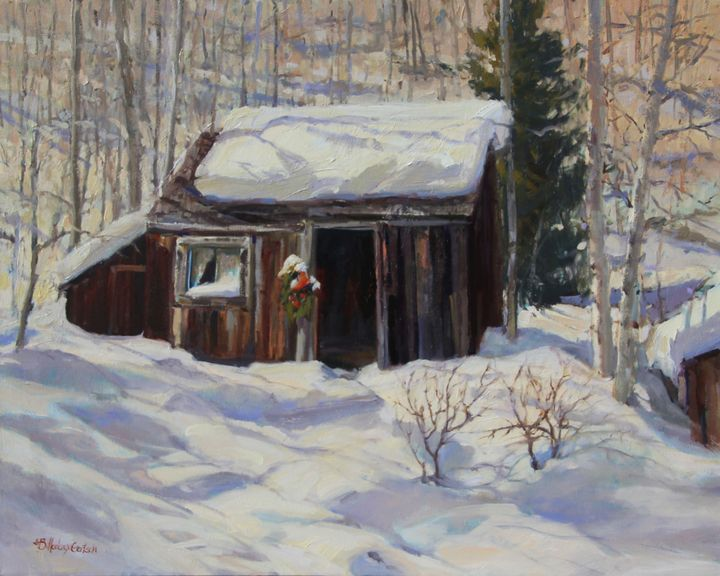 Miner S Cabin Park City Utah Susette Billedeaux Gertsch Paintings Prints Buildings Architecture Other Buildings Architecture Artpal
