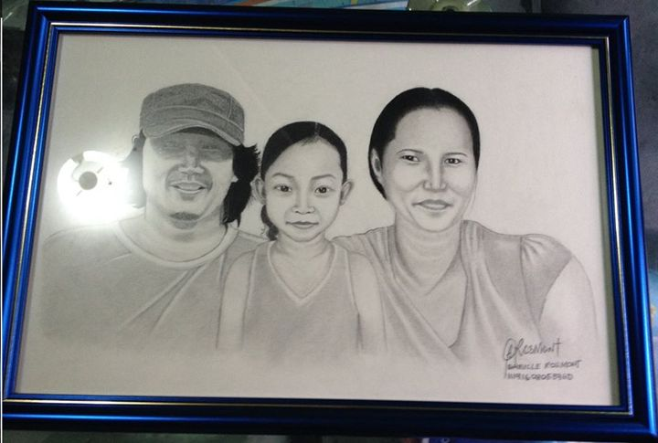 Portrait Mr. Moreno and Family - BR art