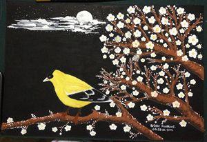 """Painting """"Yellow Bird"""""""