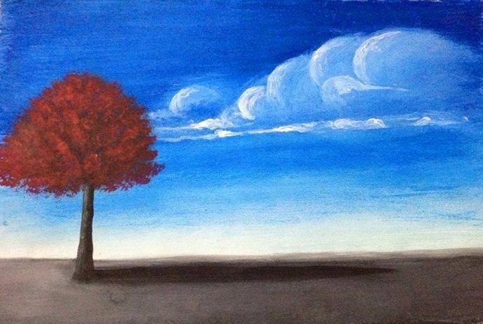 Painting Red Tree - BR art