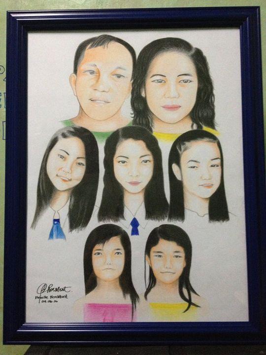 "Portrait ""Enciso Family"" - BR art"