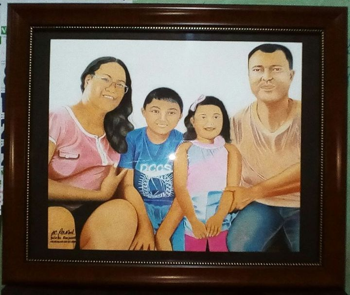 """Portrait """"Mrs. Fernandez n family"""" - BR art"""