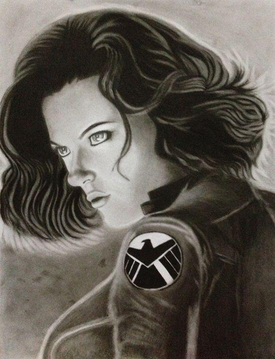 """""""BLACK WIDOW on AVENGERS"""" - BR art"""