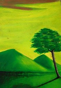 """Mountains and Tree"""