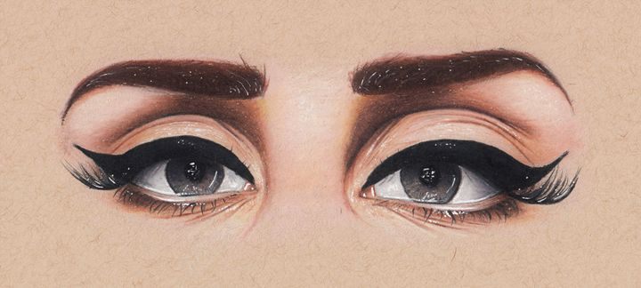 Lana's Eyes - Drawings by Jordon Ritchie