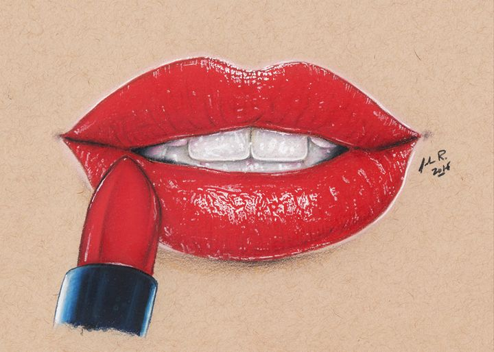 Satin Lips Pt. 2 - Drawings by Jordon Ritchie