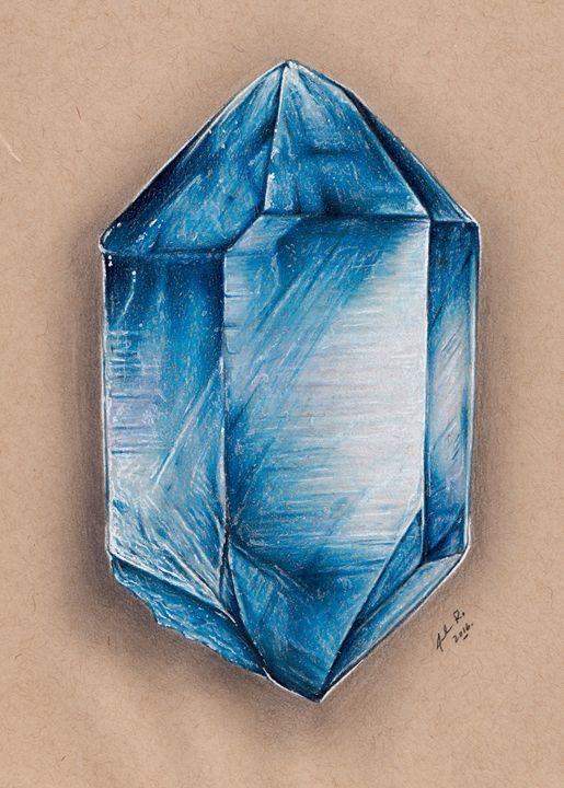 Blue Quartz - Drawings by Jordon Ritchie