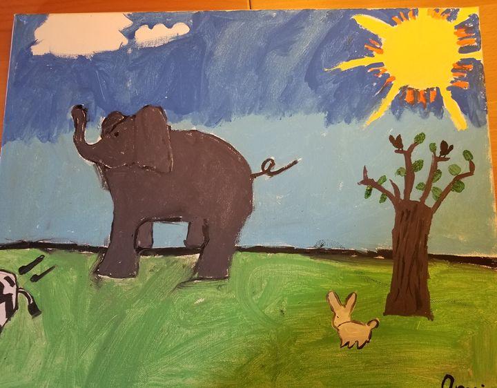 Baby Elephant - Myart
