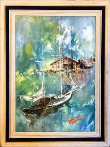 """Harbor View"" Original Oil Painting"
