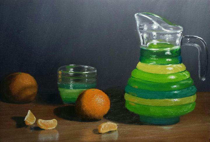 Oranges and juice - Patricks Paintings