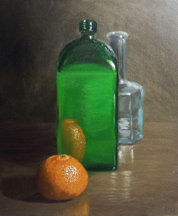 Orange and Green - Patricks Paintings