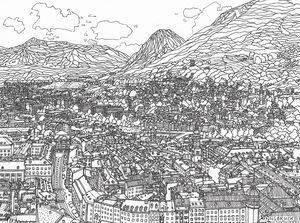 Hand drawn city 'Innsbruk'