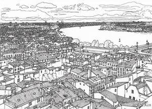 Hand drawn - Bordeaux