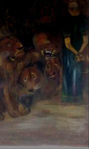 Daniel thrown into a lions' pit