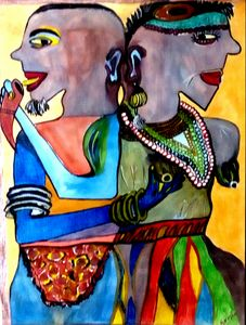 Traditional African couple