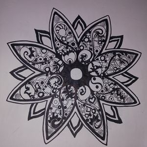 Hand Drawn Geometric Mandala