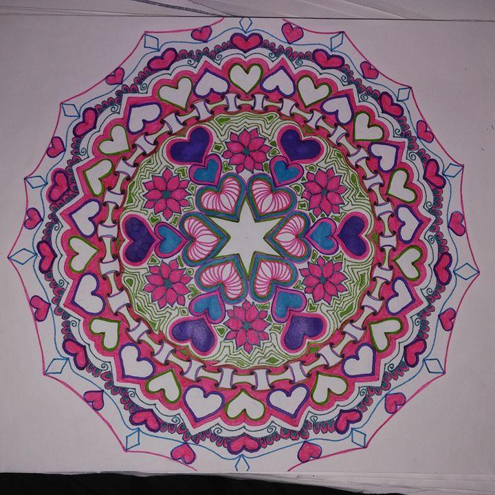 Valentine's Hand Drawn Mandala - Michelle's Magnificent Mandalas