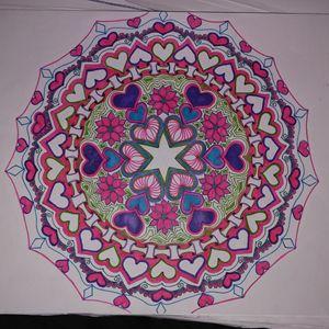 Valentine's Hand Drawn Mandala