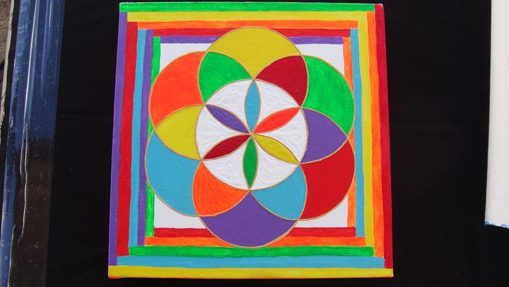 Rainbow Flower - WEGADESK'S SACRED GALLERY OF GEOMETRY