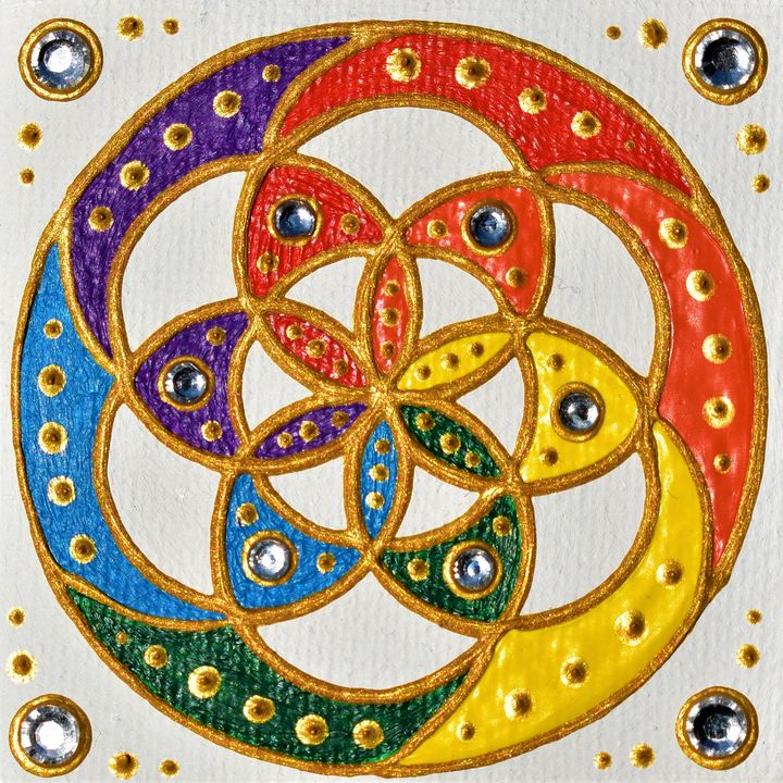 Color Wheel Mandala - WEGADESK'S SACRED GALLERY OF GEOMETRY