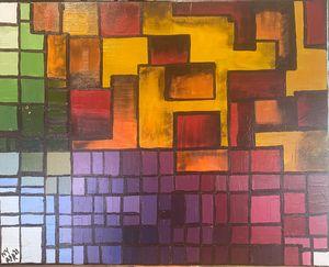 Flow of colour