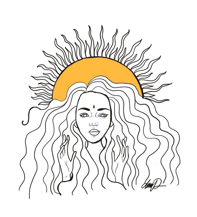 Sun child - Artbyannassofia