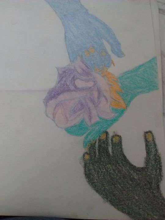 hands colored - Rebecca's art