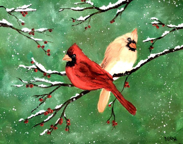 Winter Cardinals - Denise Tomasura