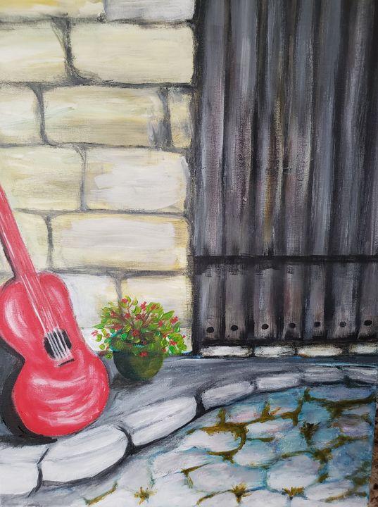Red Guitar - Ron Skovron