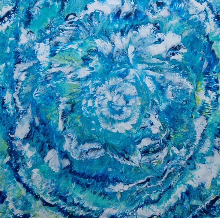 Blue Bloom - KelArt Studio