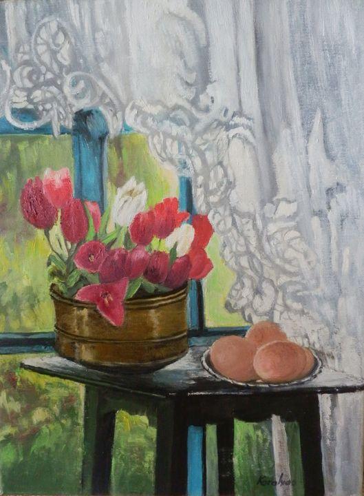 Still life with tulips - Maria Karalyos