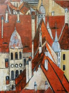 Roofs and chimneys in Sighisoara