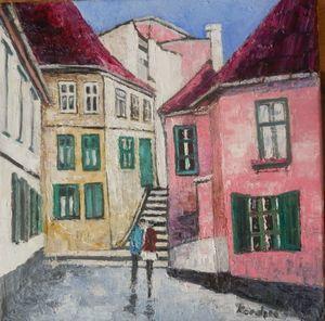 Talking on Sibiu street