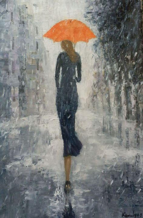 In the rain - Maria Karalyos