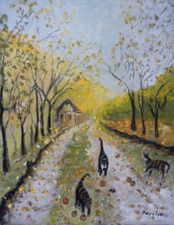 Playing with autumn - Maria Karalyos