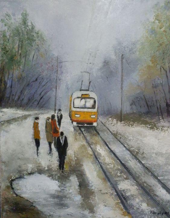 Tram station - Maria Karalyos
