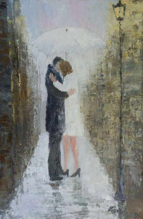 Kissing under the rain - Maria Karalyos