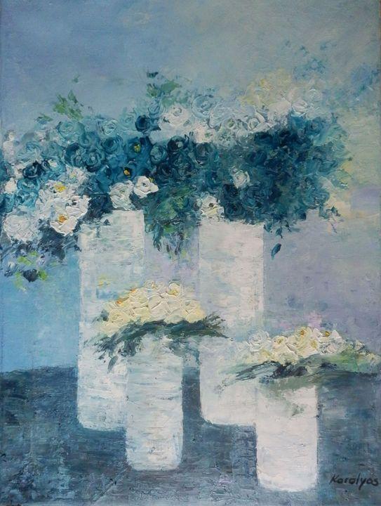 Blue flowers - Maria Karalyos