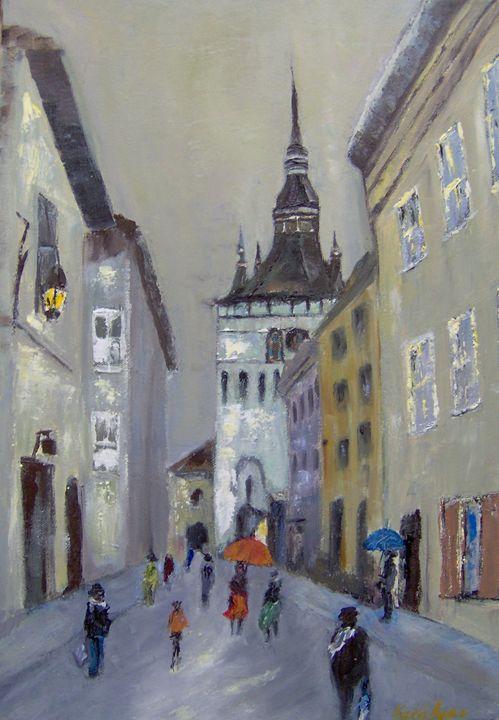 Sighisoara - Tower clock - Maria Karalyos