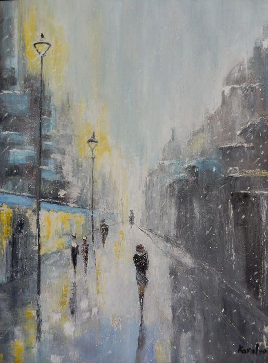 Winter on a street - Maria Karalyos