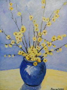 Vase with spring flowers - Maria Karalyos