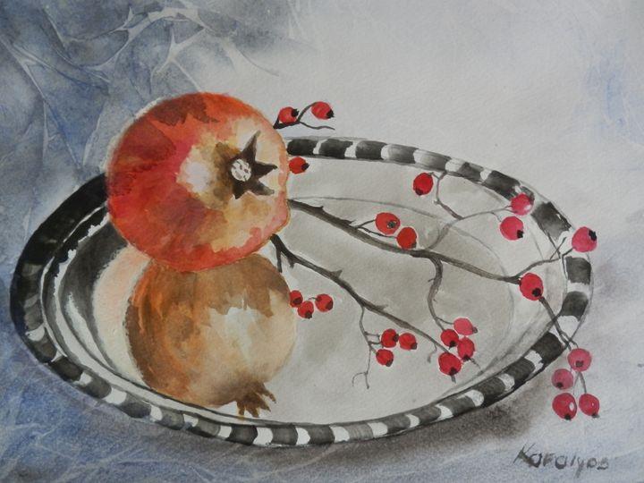 Still life with pomegranate - Maria Karalyos